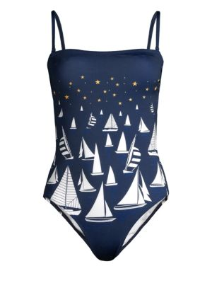 VILEBREQUIN | Facette One-Piece Swimsuit | Goxip