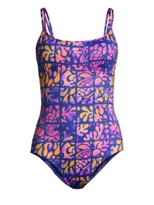 VILEBREQUIN | Feria Graphic Print One-Piece Swimsuit | Goxip