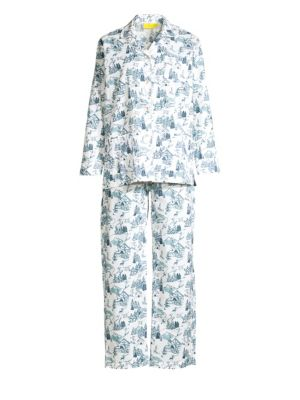 Ski Toile Pima Cotton Pajama Set