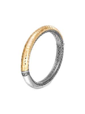 Classic Chain 18K Yellow Gold & Silver Bracelet