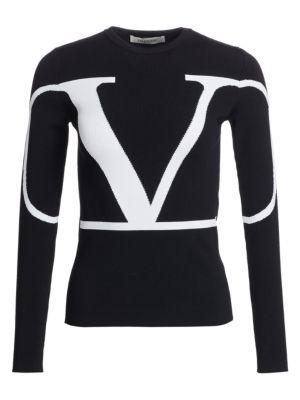Logo Knit Long Sleeve Sweater