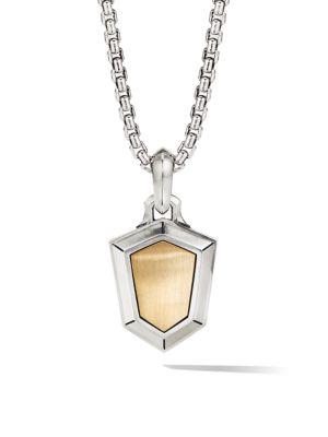 Amulets 18K Yellow Gold & Sterling Silver Shield Pendant
