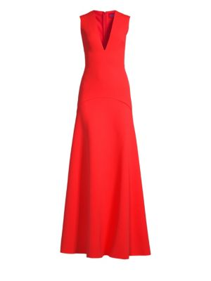 SOLACE LONDON | Seine V-Neck Sleeveless Gown | Goxip