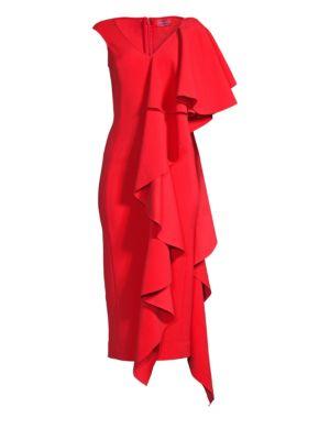 Alora Cascading Ruffle Dress