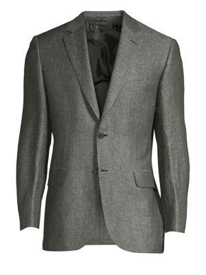 Herringbone Linen-Blend Jacket