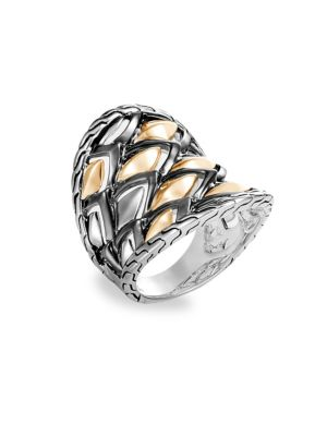 Legends 18K Silver & Yellow Gold Ring