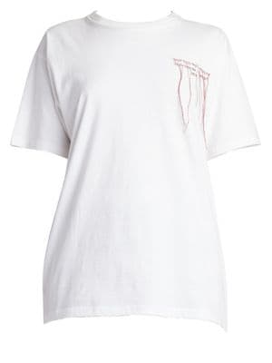 Embroidered Logo Cotton Tee