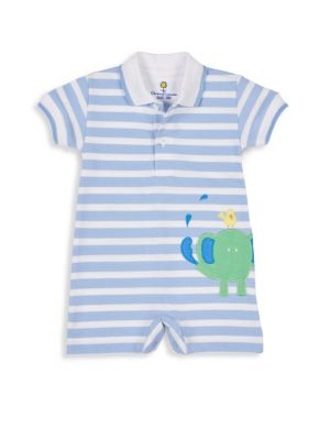 Baby Boy's Knit Pique Stripe Romper