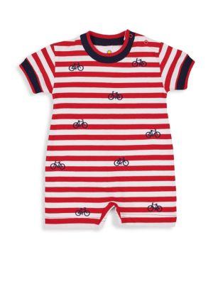 Baby Boy's Knit Jersey Stripe Romper