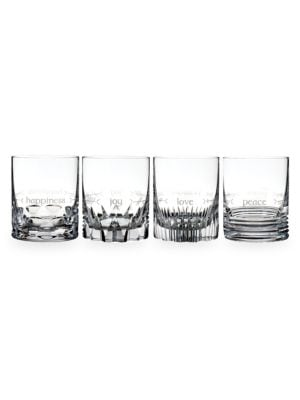 Ogham Short Stories 4-Piece Double Old Fashioned Glass Set