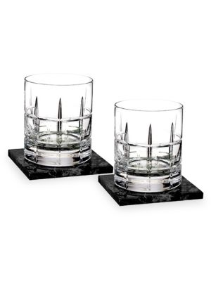 Cluin Short Stories Two-Piece Old Fashioned Glass & Coaster Set