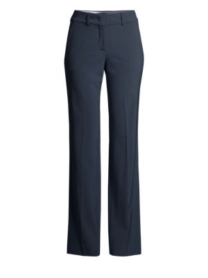 PIAZZA SEMPIONE   Straight-Leg Stretch-Wool Pants   Goxip