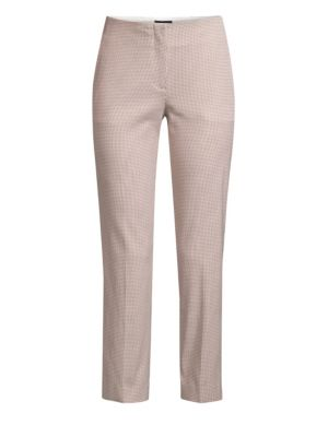 PIAZZA SEMPIONE   Cropped Houndstooth Pants   Goxip