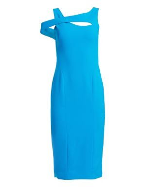 Sleeveless Cut-Out Crepe Cocktail Dress