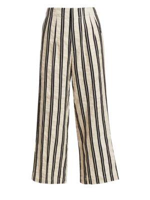 GENTRY PORTOFINO | Double Pinstripe Crop Pants | Goxip