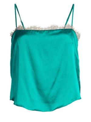 Lace-Trim Silk-Blend Camisole