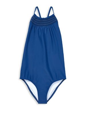 Girl's Solid One-Piece Swimsuit