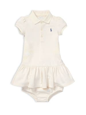 Baby Girl's Two-Piece Cotton Polo Dress & Bloomers Set