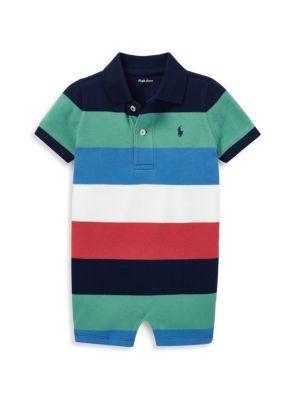 Baby Boy's Striped Cotton Shortall
