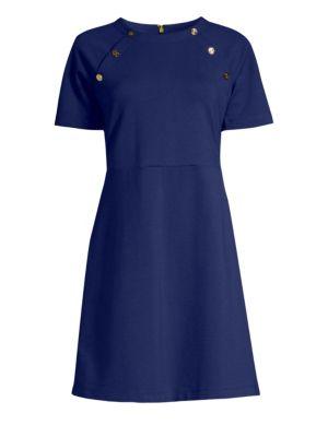 DRAPER JAMES Sailor Knit Dress in Navy