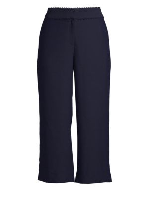 Scalloped Cropped Pants