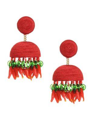 Paprika Chandelier Earrings