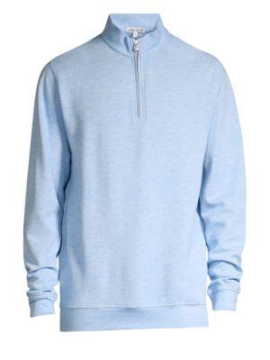 Crown Comfort Interlock Quarter-Zip Sweater