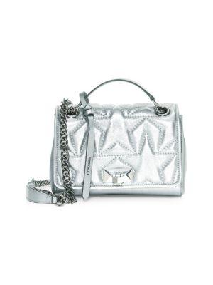 Small Helia Metallic Star Top Handle Bag