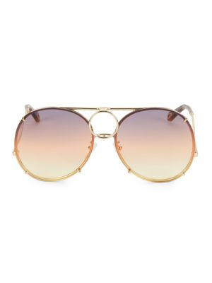 Vicky Interchangeable 61MM Aviator Sunglasses