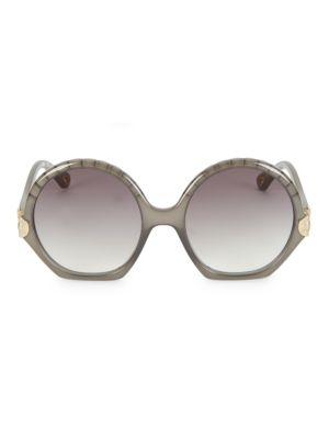 Vera 56MM Oversized Round Sunglasses