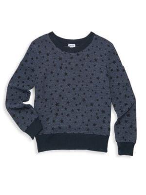 Girl's Star Print Sweatshirt