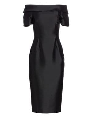 CATHERINE REGEHR   Alice Off-The-Shoulder Cocktail Dress   Goxip