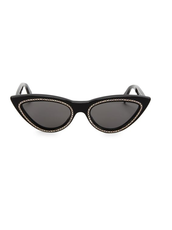 CELINE 56MM Crystal-Studded Cateye Sunglasses