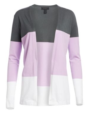 Viscose Elite Open Front Colorblock Cardigan