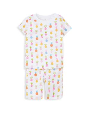 Baby Girl & LIttle Girl's Two-Piece T-Shirt & Shorts Pajama Set