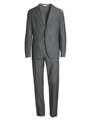 Single-Breasted Chambray Suit