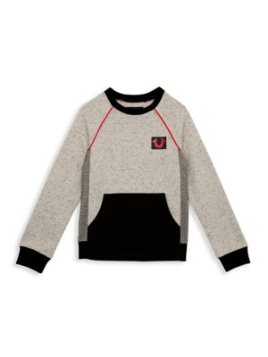 Little Boy's & Boy's Mesh Side Sweatshirt