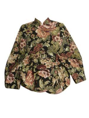 Jacquard Cape Jacket