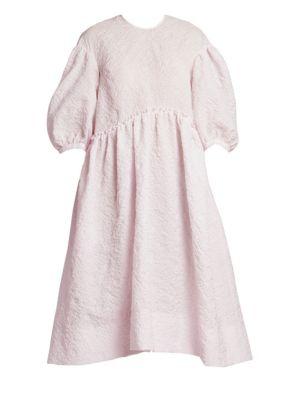 Dropped Sleeve Midi Dress