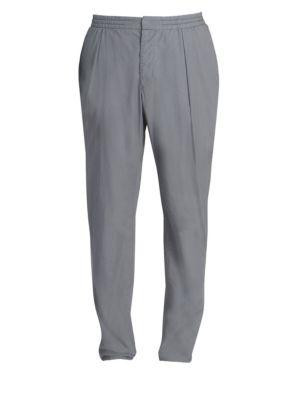 Elasticized Waistband Pleat-Front Pants