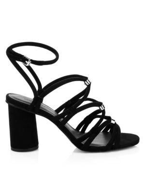 Apolline Ankle-Strap Suede Sandals