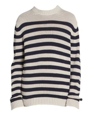 Kiss Striped Slouchy Sweater