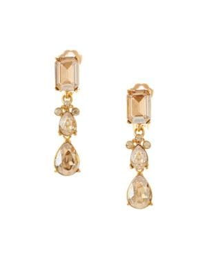 Swarovski Crystal Classic Small Drop Clip-On Earrings