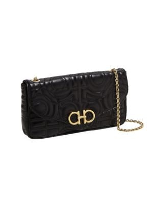 Quilted Leather Wallet-On-Chain