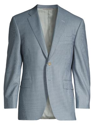 Classic-Fit Mini Houndstooth Suit Jacket