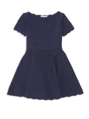 Little Girl's Scallop Flare Dress