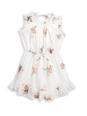 Little Girl's & Girl's Heathers Flip Floral Dress