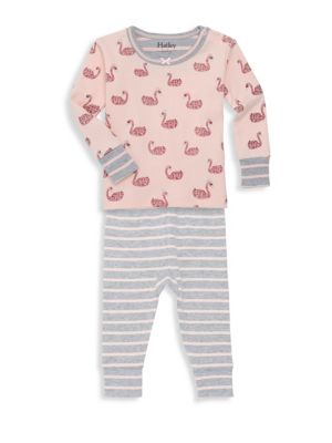 Baby Girl's Two-Piece Swan Like Organic Cotton Top & Bottom Set