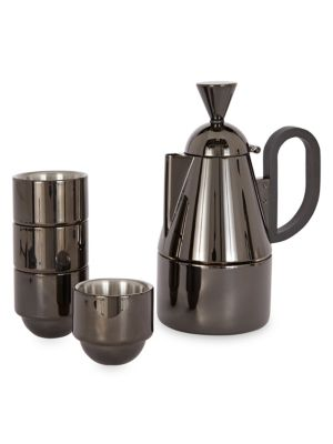 Brew Stove Top Stainless Steel Five-Piece Coffee Set