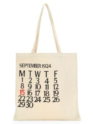 Five-Day Calendar Canvas Tote Bag